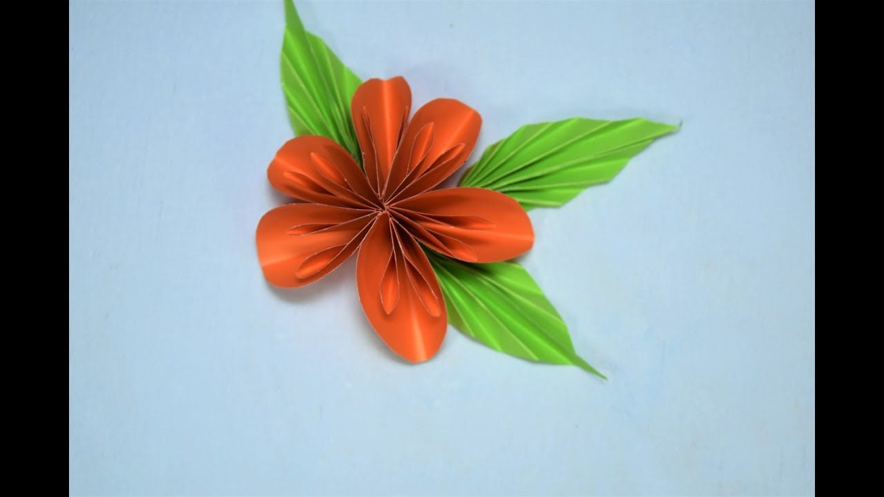 How To Make A Paper Flower Very Easy Origami Pinterest Flower