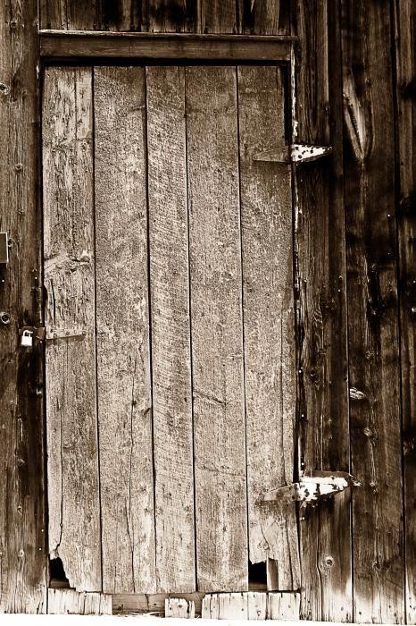 old barn doors. old rustic black and white barn woord door greeting card doors