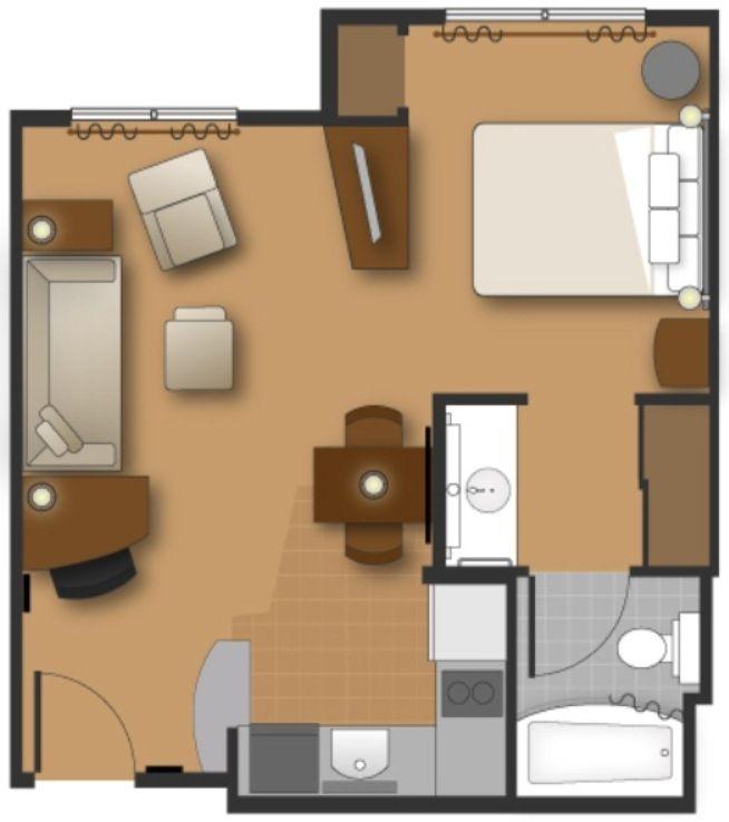 Residence Inn By Marriott Kingston Hotel Water S Edge Studio Floor Plans Small Floor Plans Hotel Inspiration