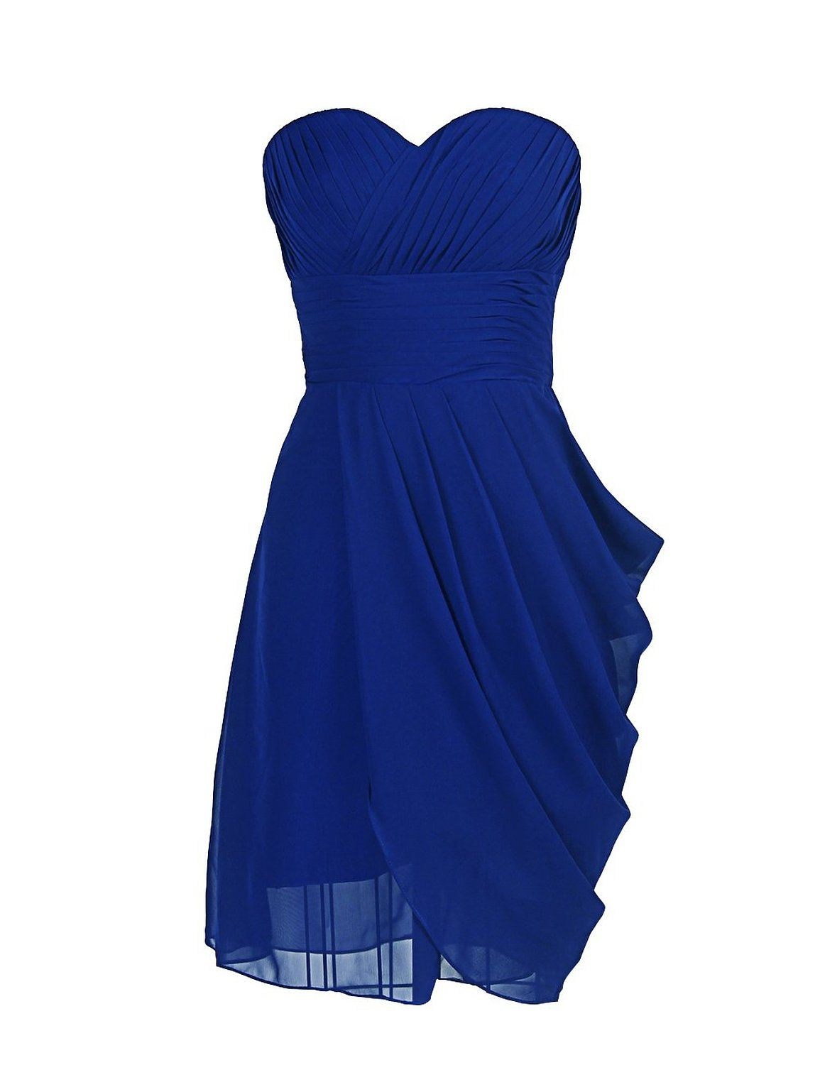 Dressystar short royal blue bridesmaid dresses women 39 s for Royal blue short wedding dresses