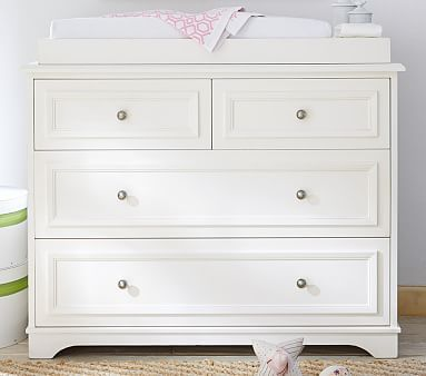Fillmore Dresser Changing Table Topper Simply White
