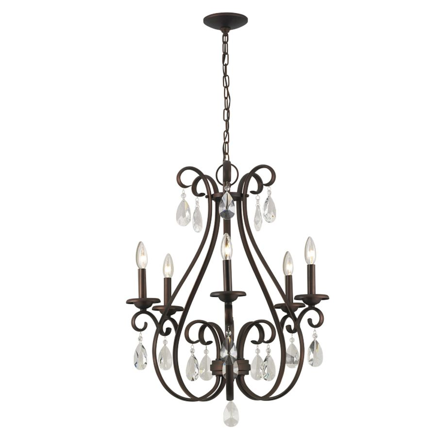 Portfolio Marimay 5 Light Dark Bronze Chandelier At Com Entry Dining Ahh So Many Options