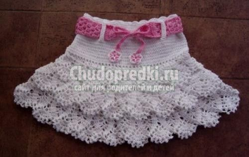 Вязанная юбка для девочки со схемой