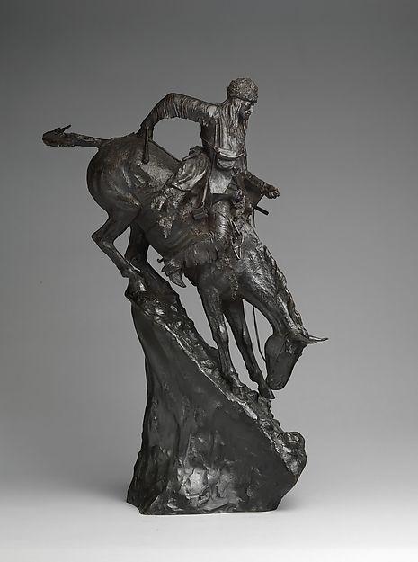 Frederic Remington, (American, Canton, New York 1861–1909 Ridgefield, Connecticut). The Mountain Man. The Metropolitan Museum of Art, New York. Rogers Fund, 1907 (07.79) #horses