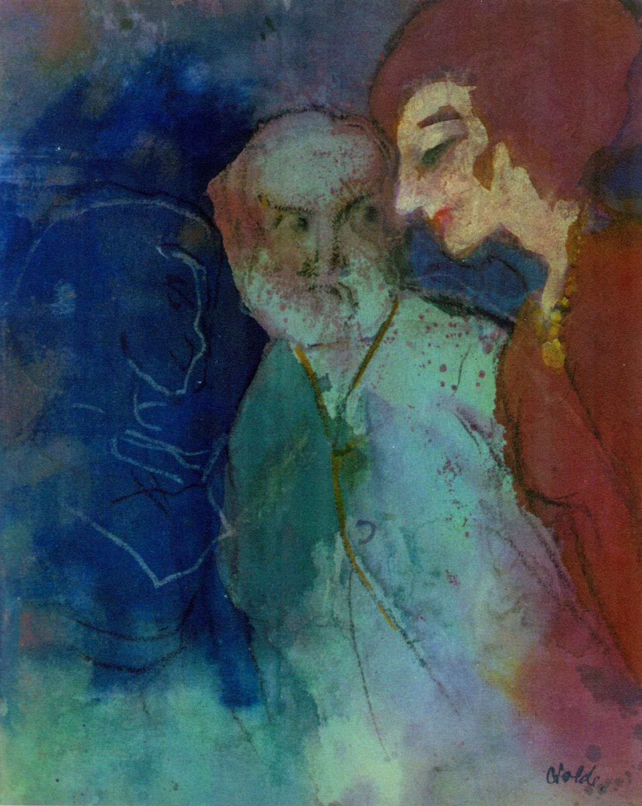 Alter Mann Und Junge Frau C 1943 Emile Nolde Emil Nolde Artist Painting
