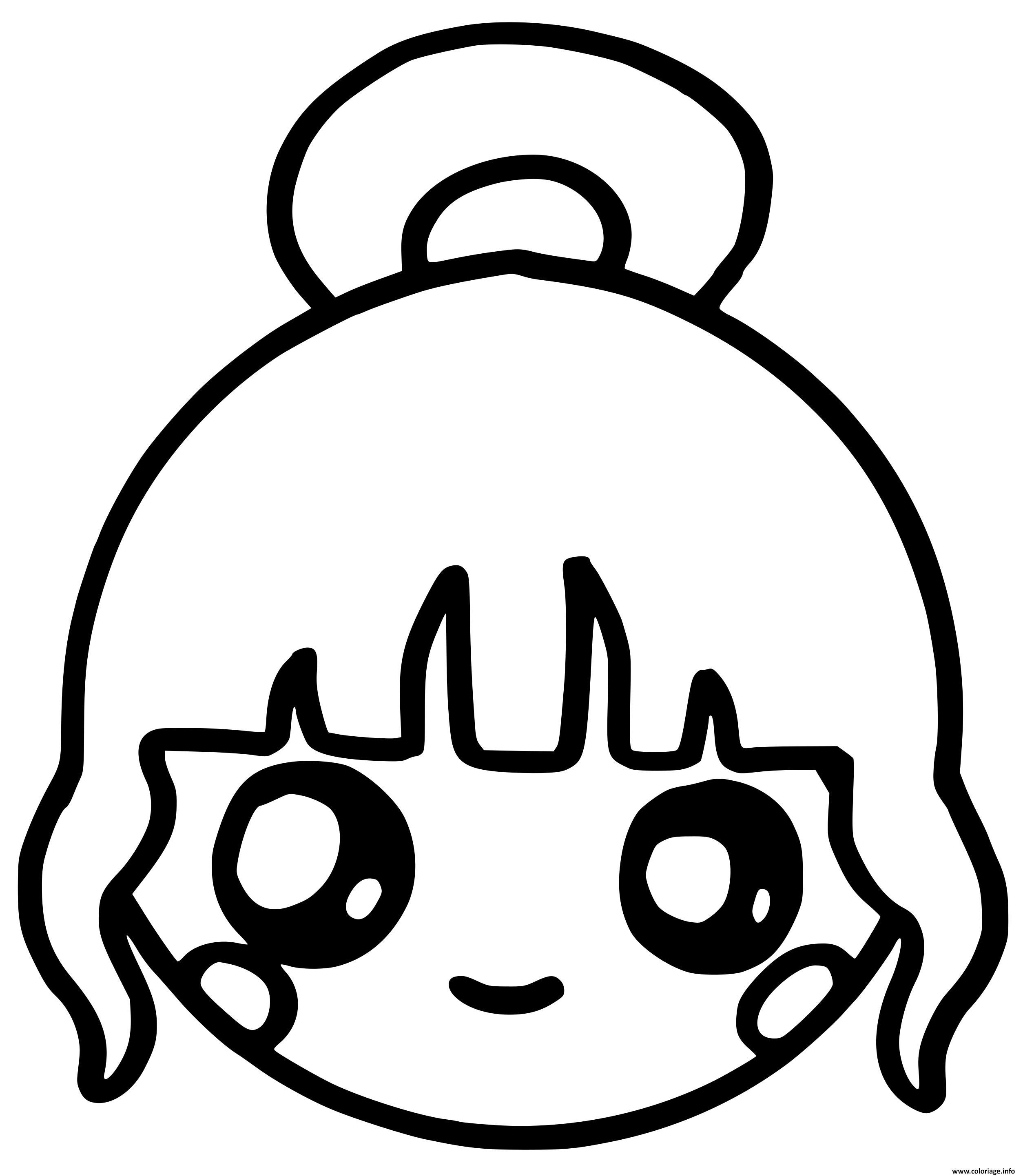 Coloriage fille kawaii  Coloring pictures, Coloring pages, Kawaii
