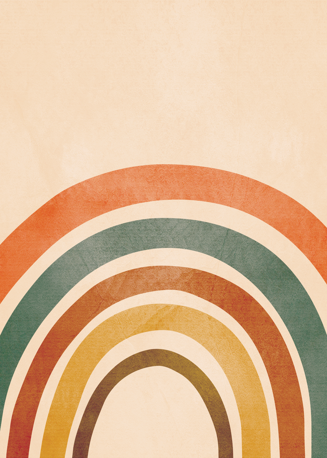 Retro Rainbow Throw Pillow by City Art - Cover (16
