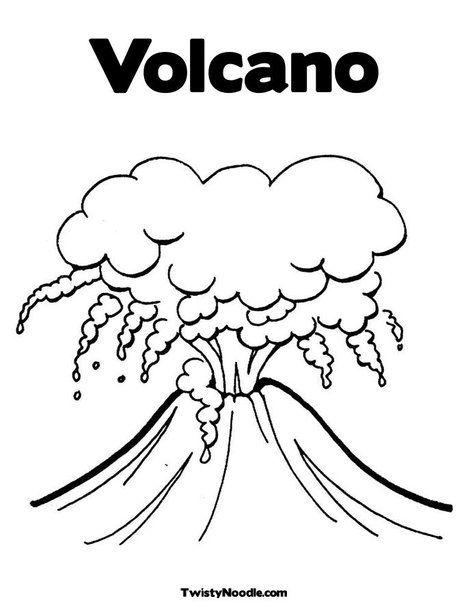 Volcano Unit Study At Homeschoolshare Com Coloring Pages Coloring Pages For Kids Coloring Books