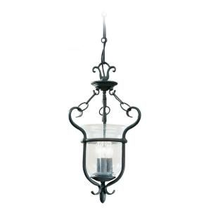 Sea Gull Lighting Manor House 3 Light Weathered Iron Semi Flush Fixture 5101 07 At The Home Depot