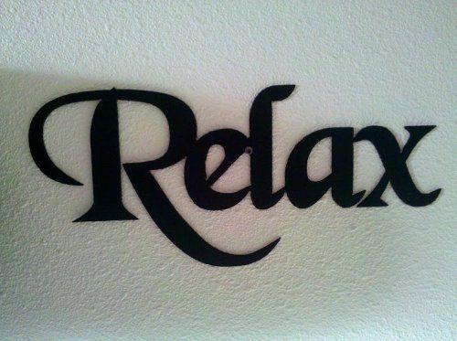 Relax Word Decorative Metal Wall Art Home Bathroom Decor