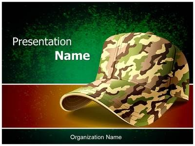 Army Cap Powerpoint Template Is One Of The Best Powerpoint Templates