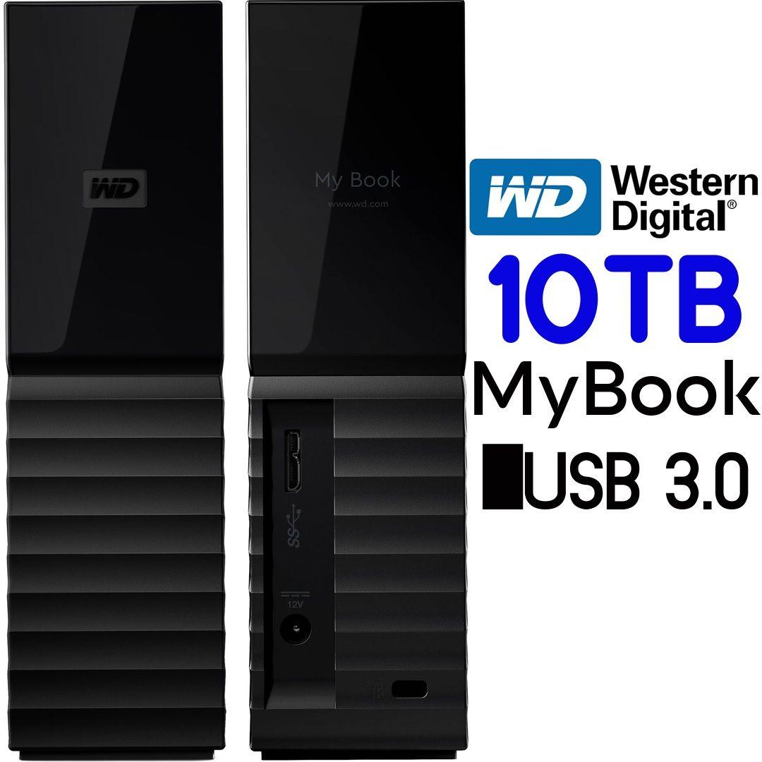 Wd 10tb Mybook External Hdd Usb 3 0 Wdbbgb0100hbk Personal Computer Center Usb Hdd External Hard Drive