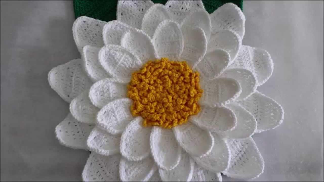 Flor Margarida Tricot Blumen Häkeln Häkeln Et Blüten Häkeln