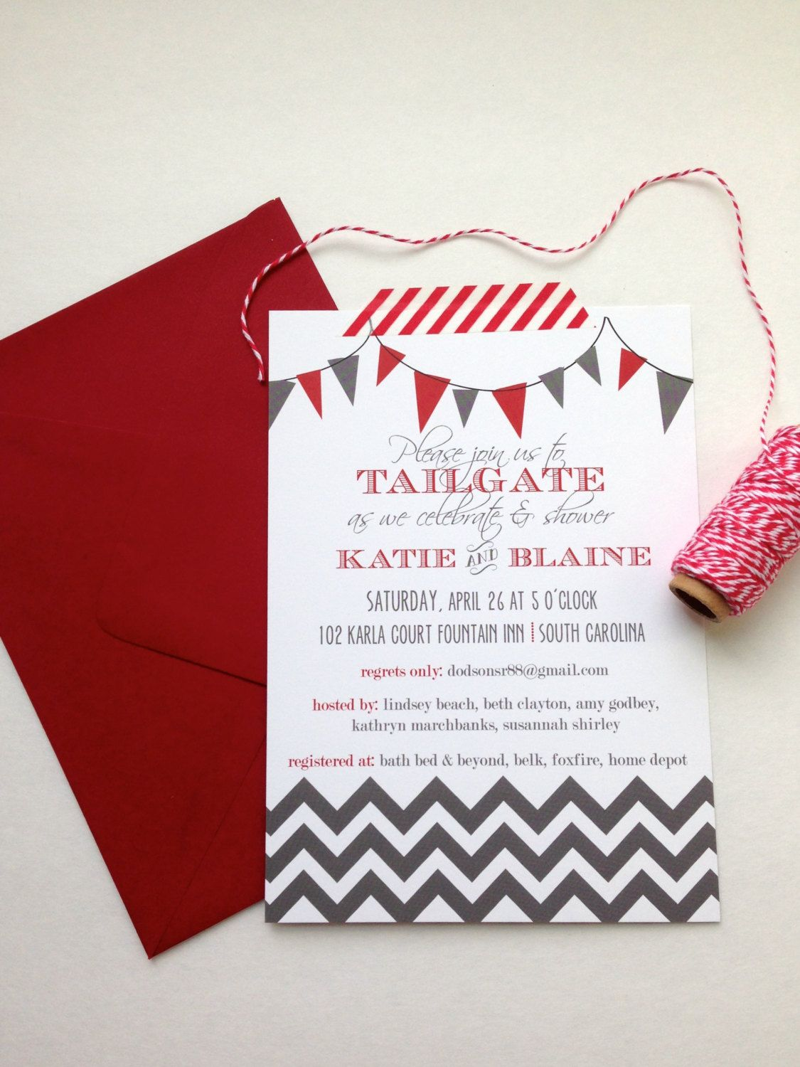 Tailgating Couples Shower Invitation by texasgirlsdesign on Etsy ...