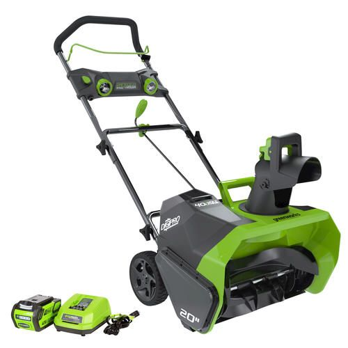 Greenworks 20 G Max 40 Volt Digipro Snow Blower At Menards With Images Electric Snow Blower Snow Blower Greenworks