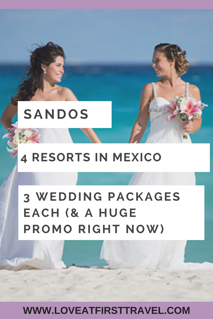 99e1969fee6 Sandos Destination Weddings in Mexico all have private wedding receptions  included in their packages!