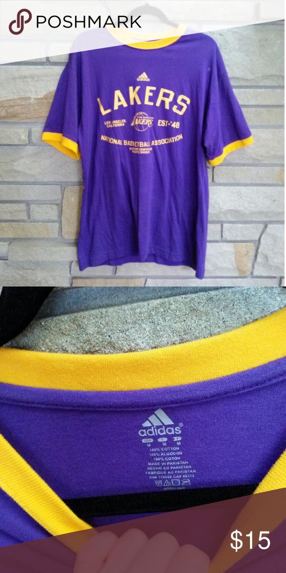 Adidas Los Angeles Lakers T-shirt Cool adidas Los Angeles Lakers basketball  T-shirt. Size men s medium. Great condition. adidas Shirts Tees - Short  Sleeve bd45f48ea