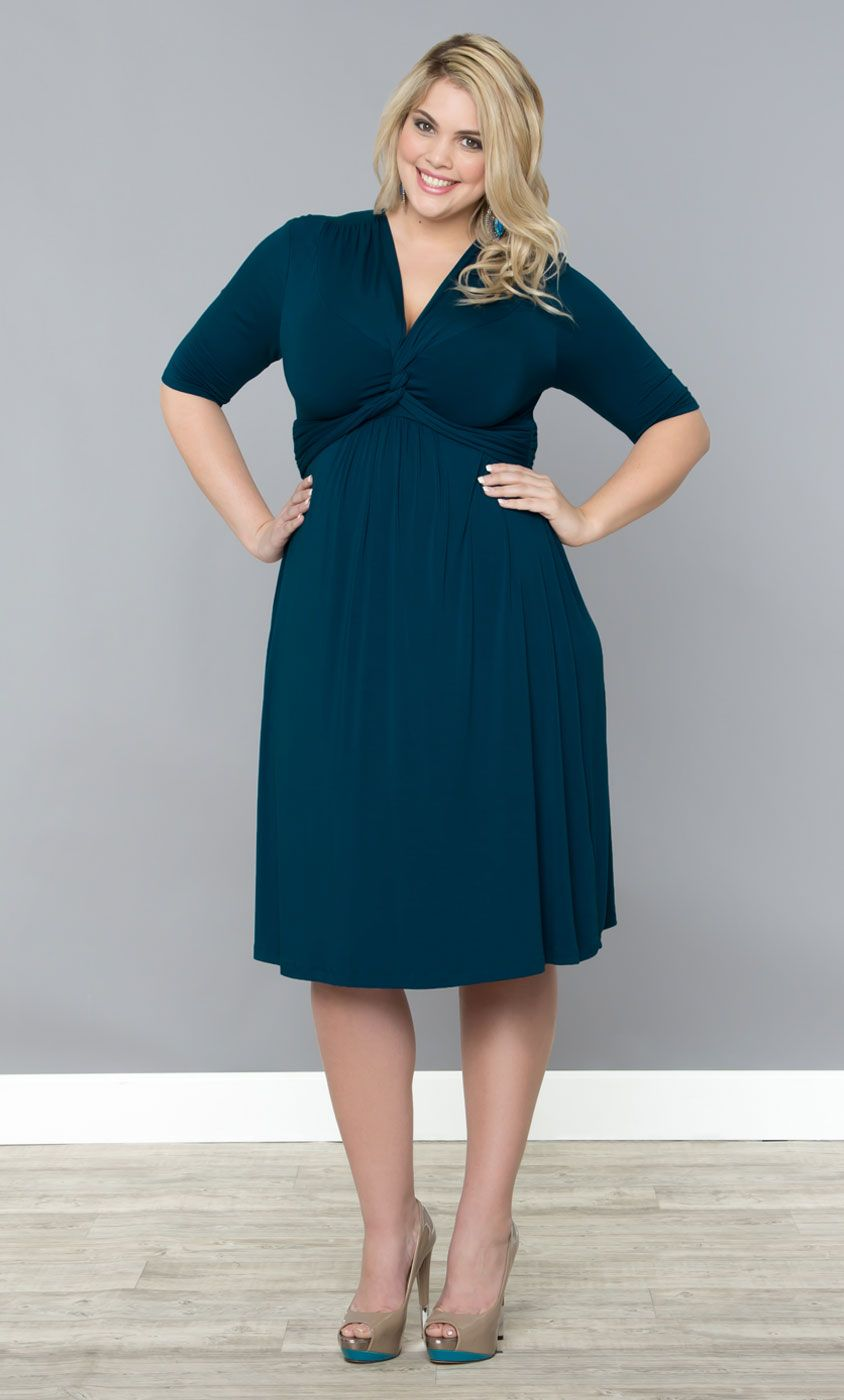 c0b880d069d Flatter your curves with simple style in our plus size Trinity Twist Dress   on sale! www.kiyonna.com  KiyonnaPlusYou  Plussize  MadeintheUSA  Kiyonna  ...