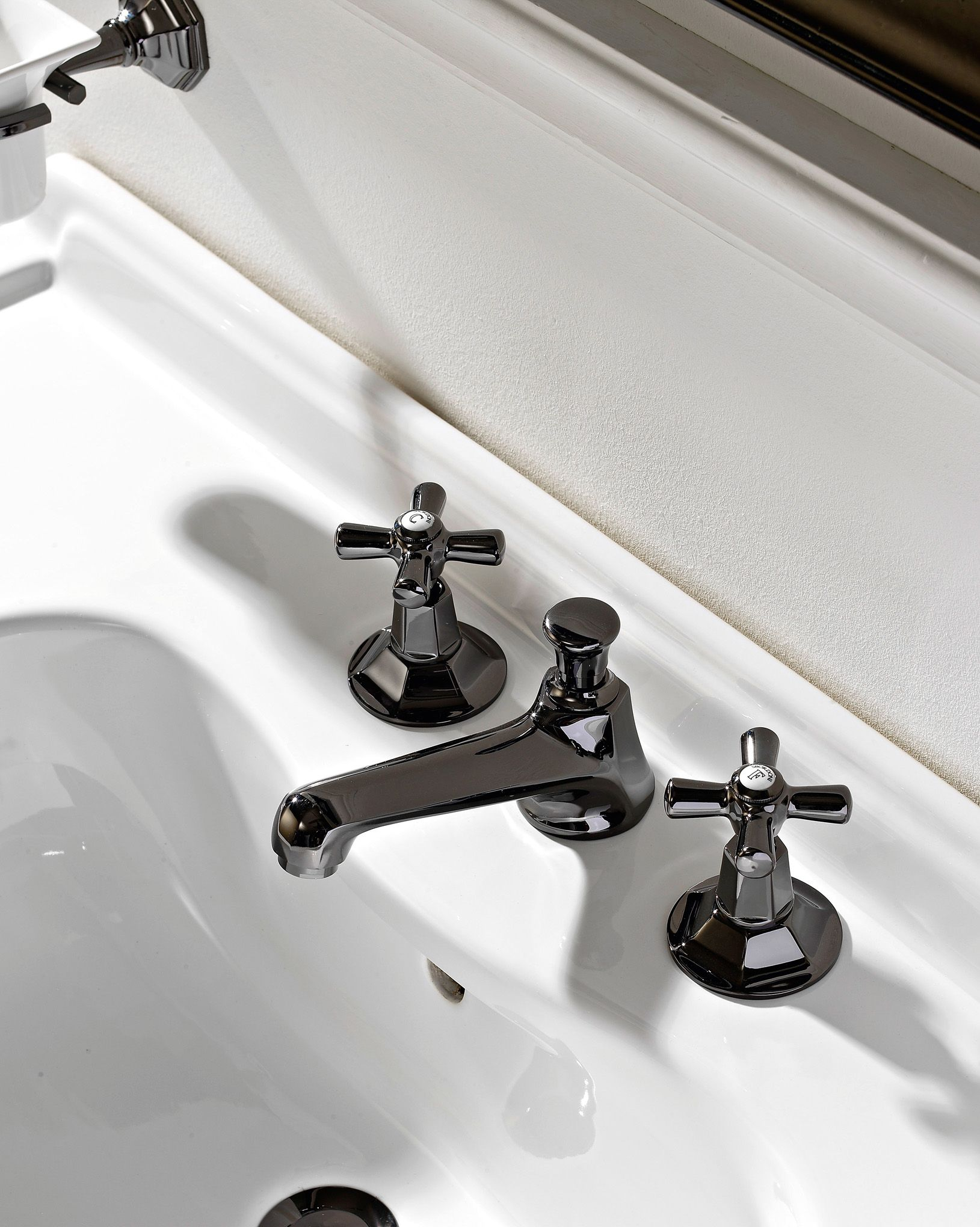 Brass sink taps bathroom - Matching Art Deco Taps Are Also Available With Finishes In Chrome Natural Brass Burnished