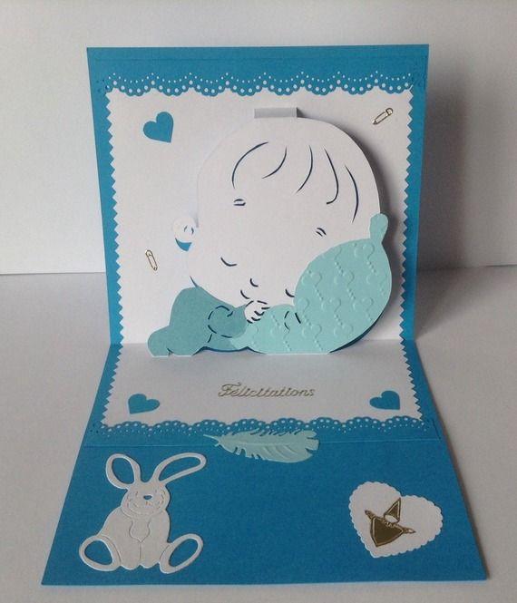 carte de naissance b b garcon modele kirigami felicitations naissance pinterest carte de. Black Bedroom Furniture Sets. Home Design Ideas