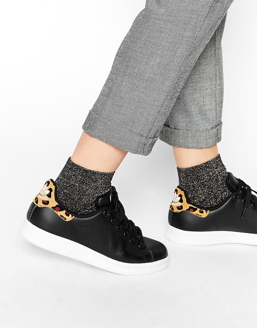 adidas originals stan smith animal print trainers