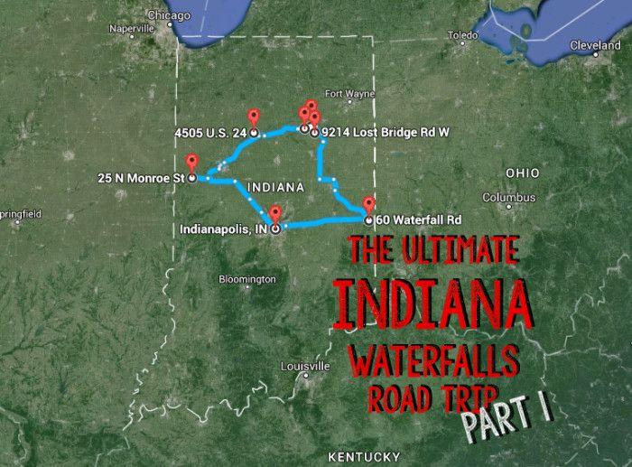 Indiana Waterfalls Road Trip