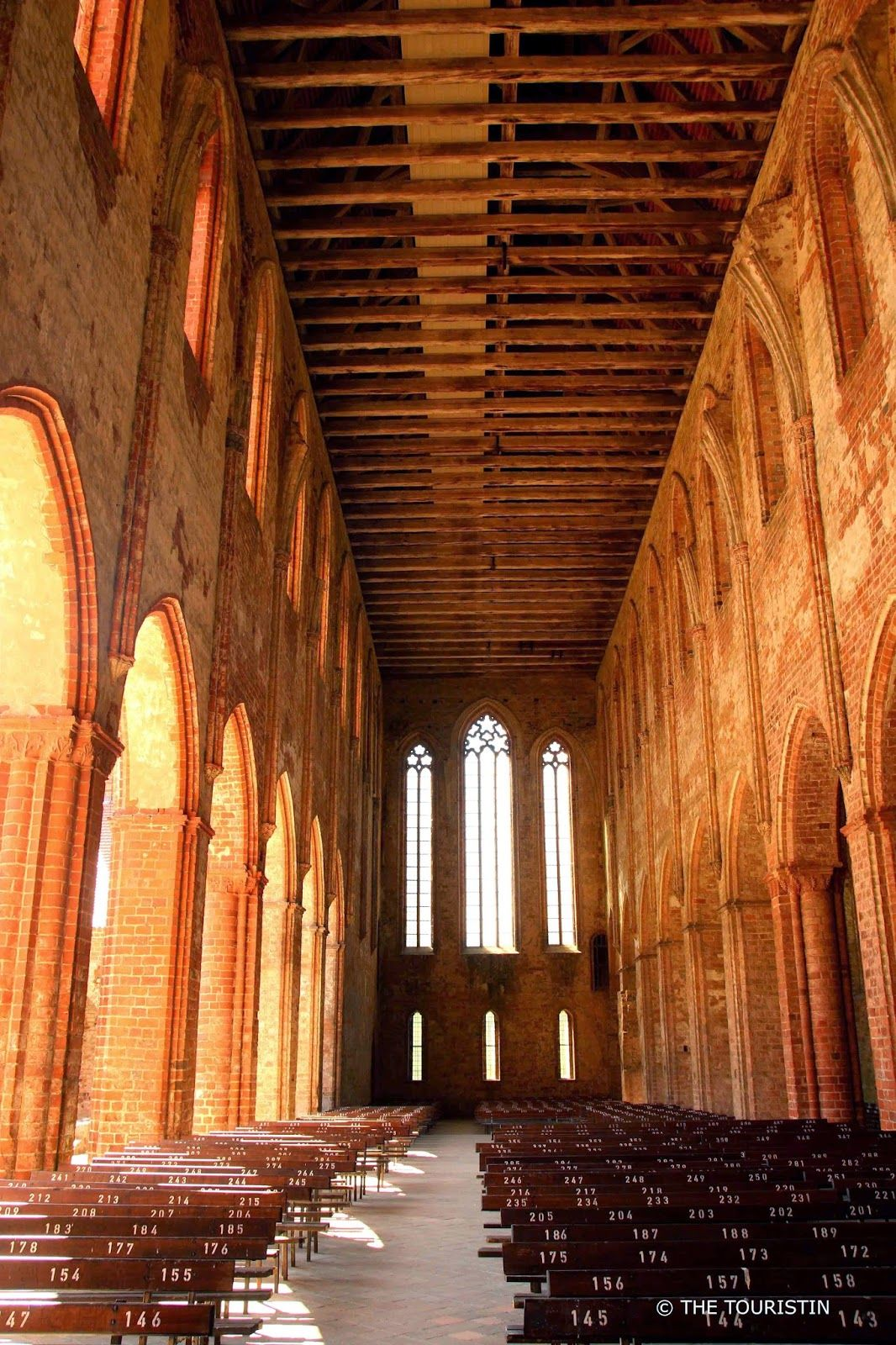 Church At Chorin Abbey In Brandenburg Germany With The Touristin