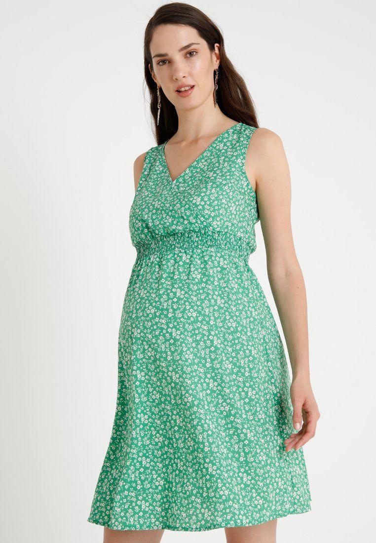 7c12ad53fbf New Look Maternity CHARLIE DITSY SHIRRED WAIST DRESS - Robe d été - green -