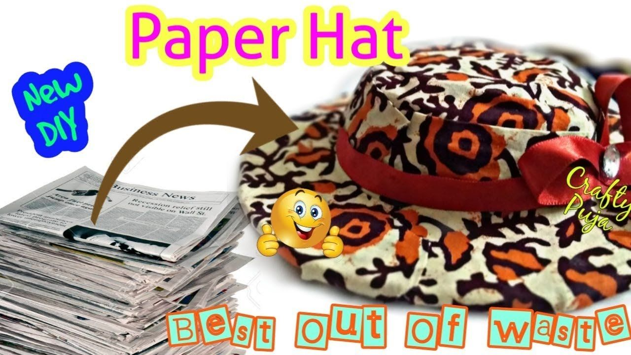 Diy how to make paper hat at home best out of waste