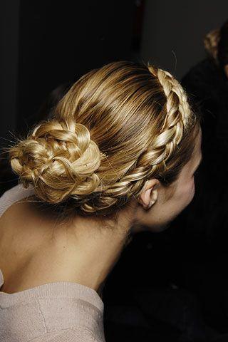 Braid With Bun Braided Hairstyles Hair Hair Lengths