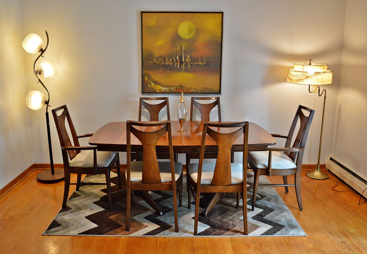 Mid century kent coffey quot perspecta dining table with