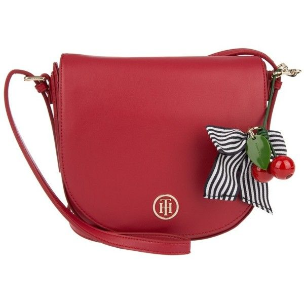 Tommy Hilfiger Shoulder Bag - Cherry Saddle Bag Scooter Red Mix ...