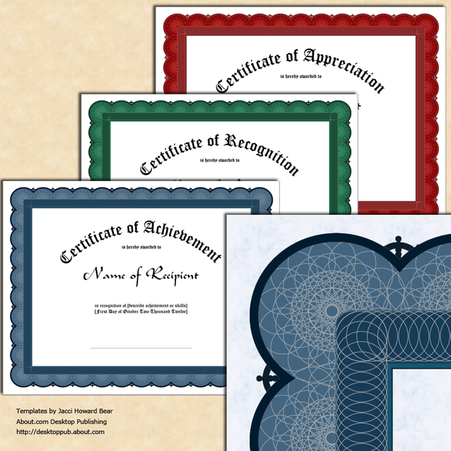 how to create certificates of recognition