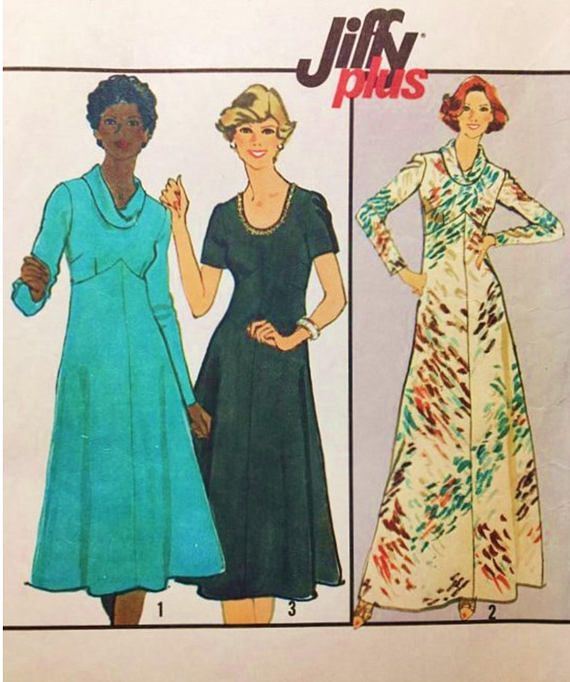 1add7322486f7 RESERVED for AMANDA 70s Simplicity 8253 Jiffy Plus Pattern Cowl Neck ...