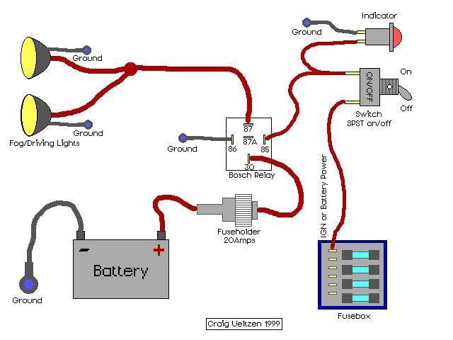 Relay Wiring Diagram For Driving LightsWiring Diagram