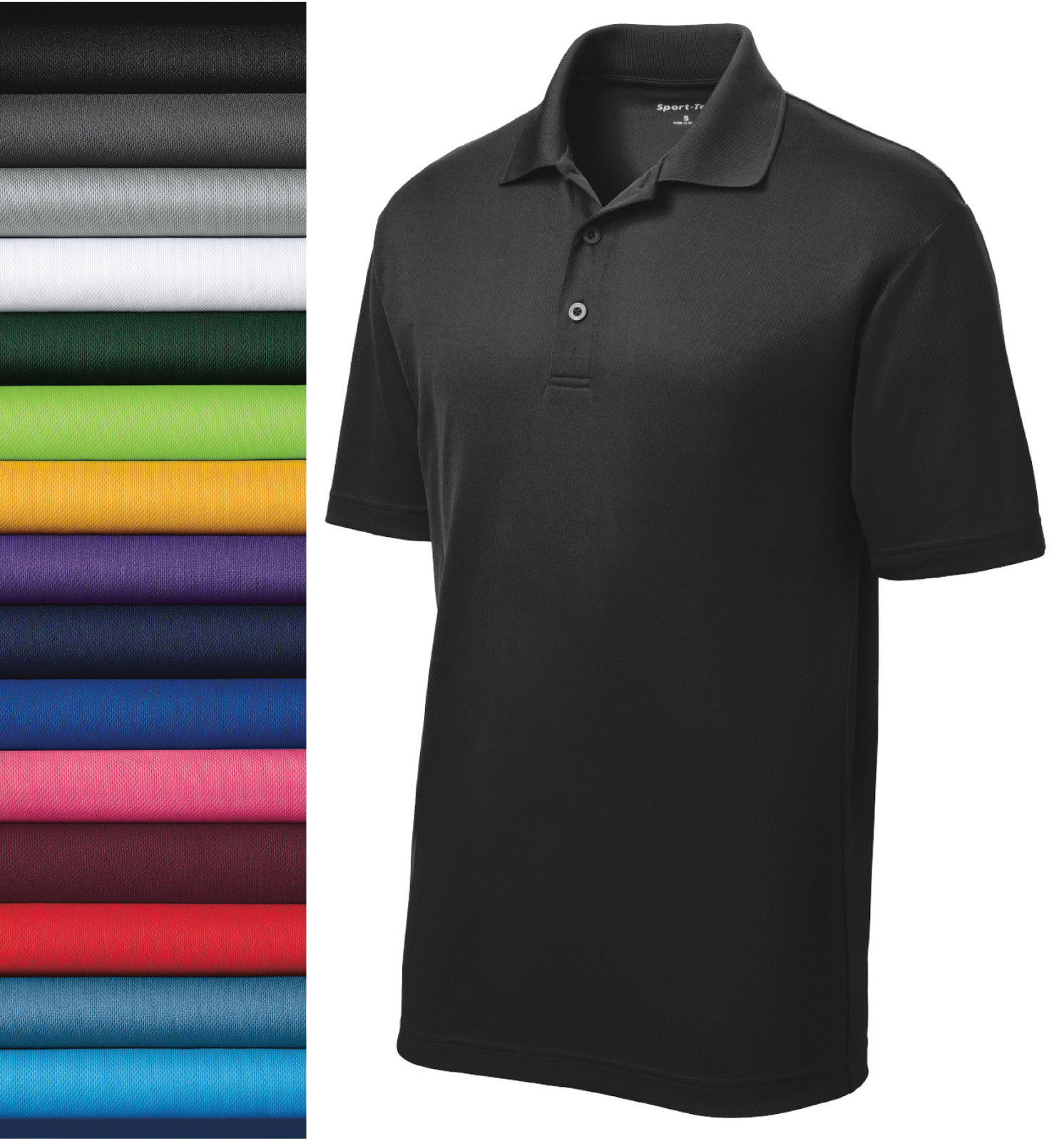 NEW Sport-Tek CASUAL GOLF DRY FIT SPORT SHIRT Polo ST640 XS -2XL 100% POLYESTER