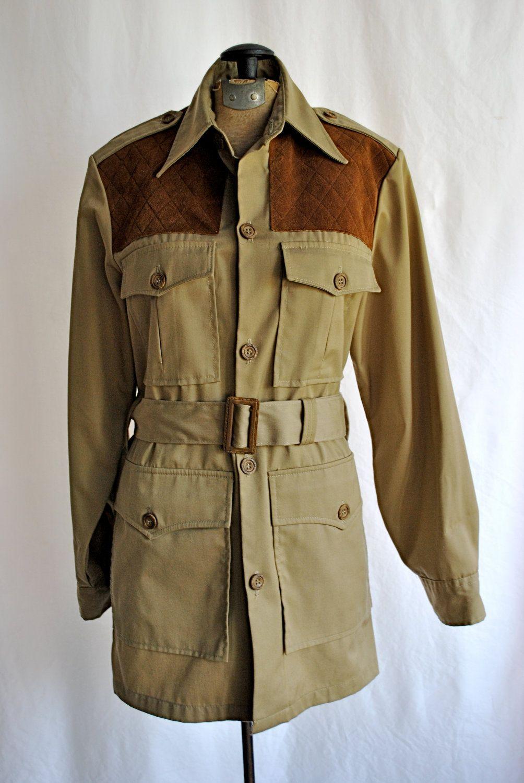 vintage 1970s mens woolrich safari jacket totally cool