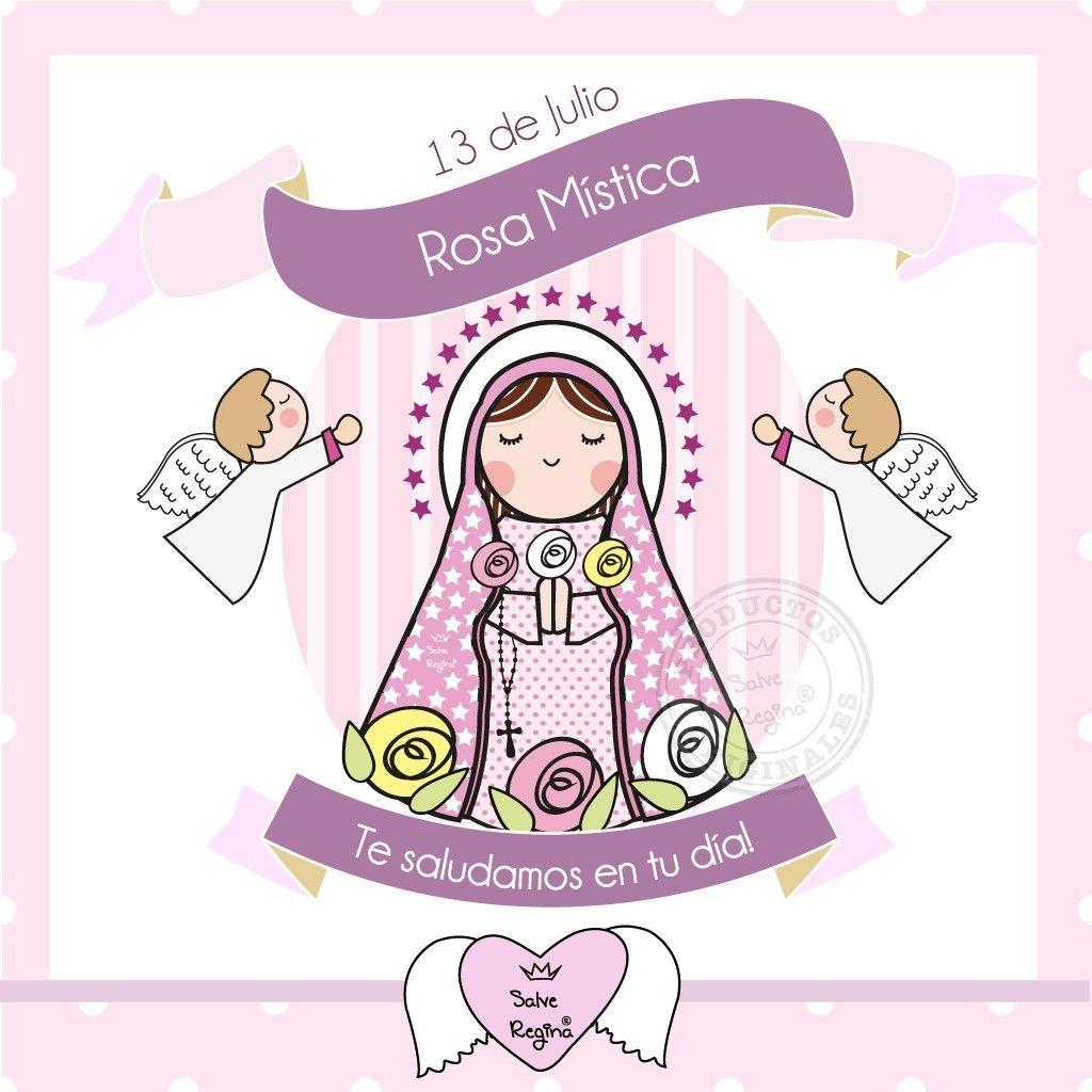 Hoy Celebramos El Dia De Maria Rosa Mistica La Virgen Maria Rosa Mistica Esta Representada Con Tres Ros Character Mario Characters Fictional Characters