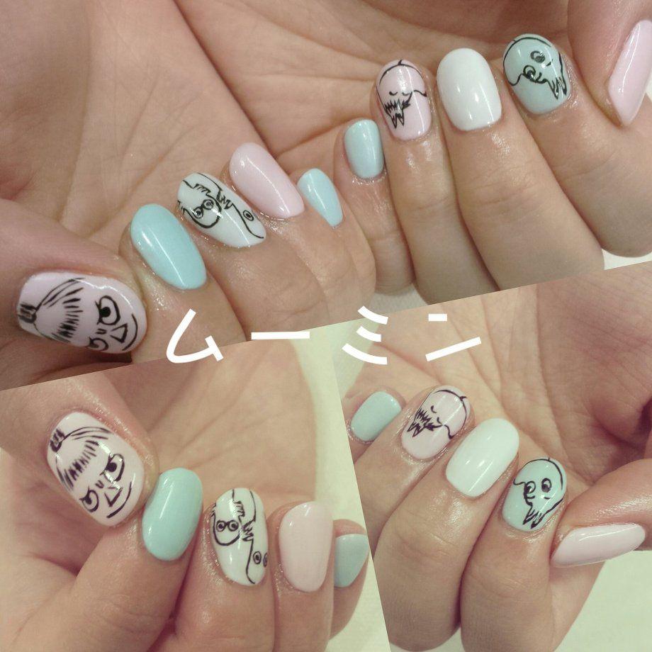 nail art design for short nails, character nail art \