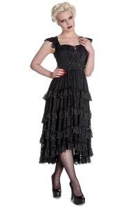 spin doctor ophelia robe en dentelle noir gothique