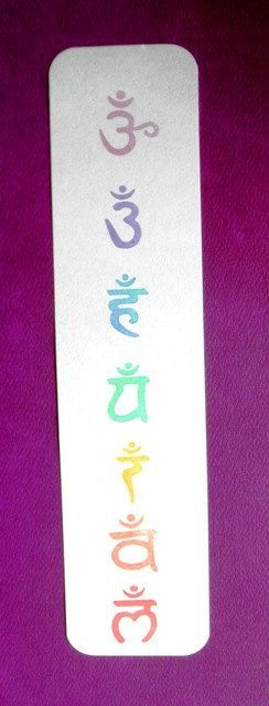 seven chakra symbols clear polymer rubber stamp set by