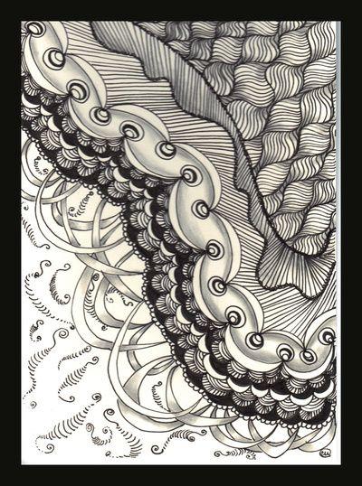 Patterns Art Print Zentangle Artwork Pattern Art Linear Art