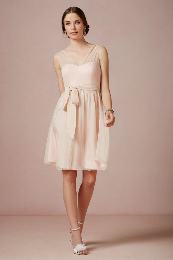 Blush pink bridesmaid dress vintage wedding style ideas for Wedding dress cleaning seattle