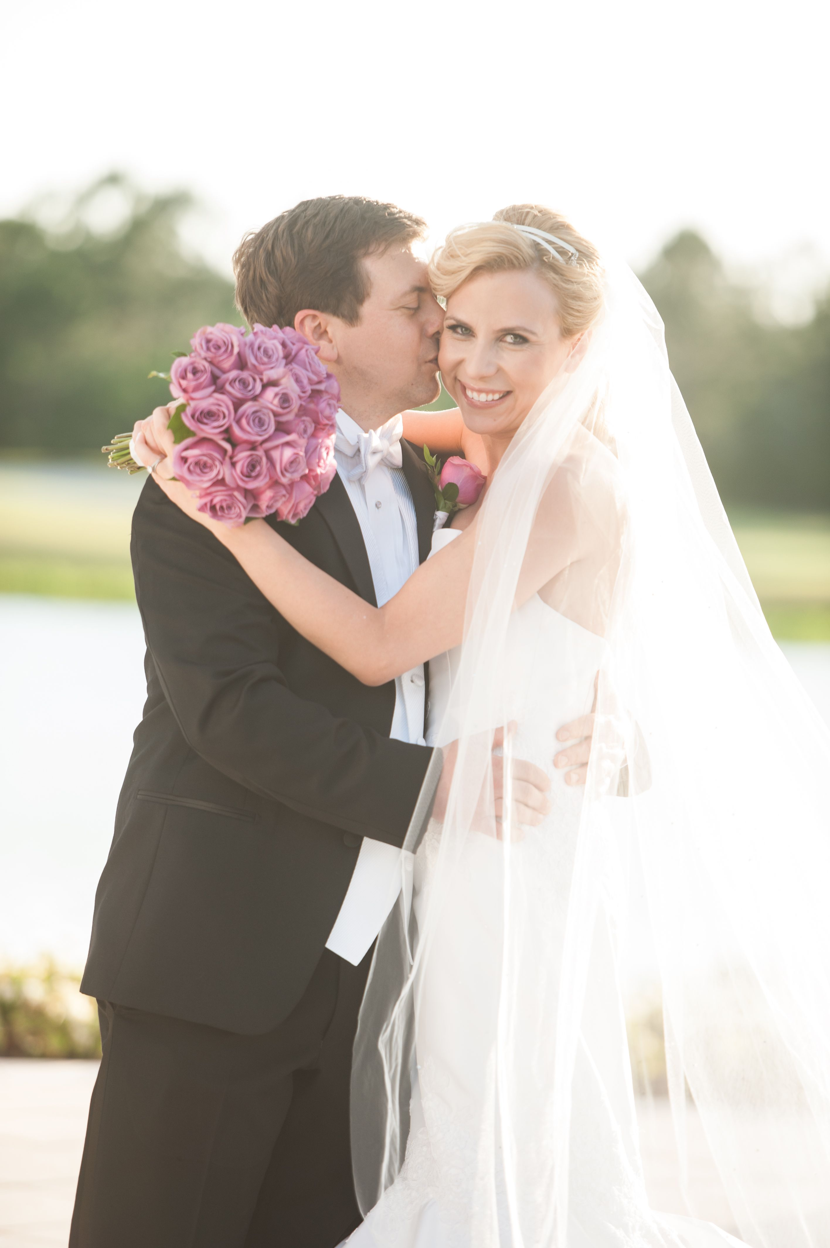 Bride and Groom Pictures, Portraits, Veil, Wedding Dress