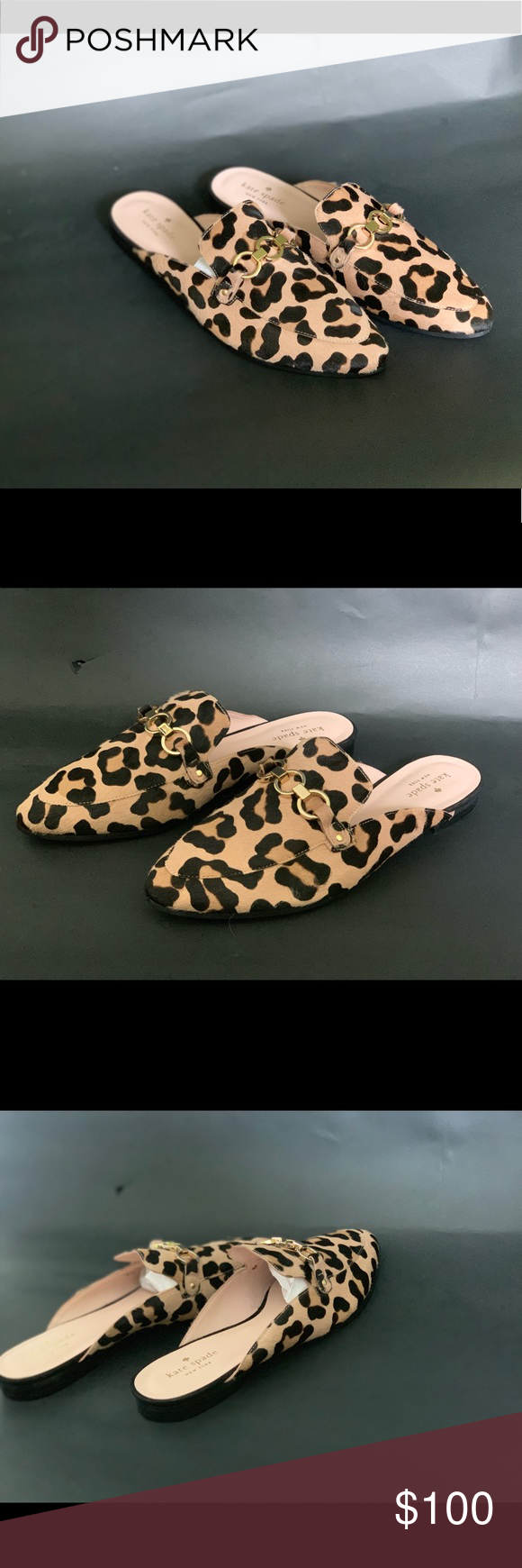 39a44760af2a Kate Spade Leopard Print Loafers Flats Kate Spade Leopard Print Cece Too  Calf Hair Loafers Mules