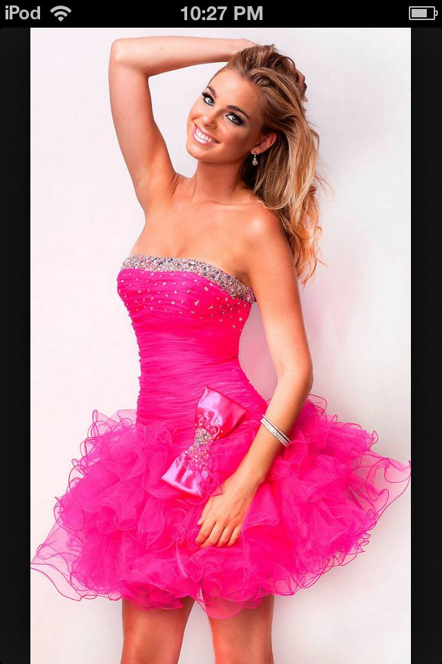 Short and pink | Hoco & prom | Pinterest