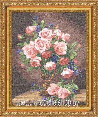 Вышивки крестом фиалок роз
