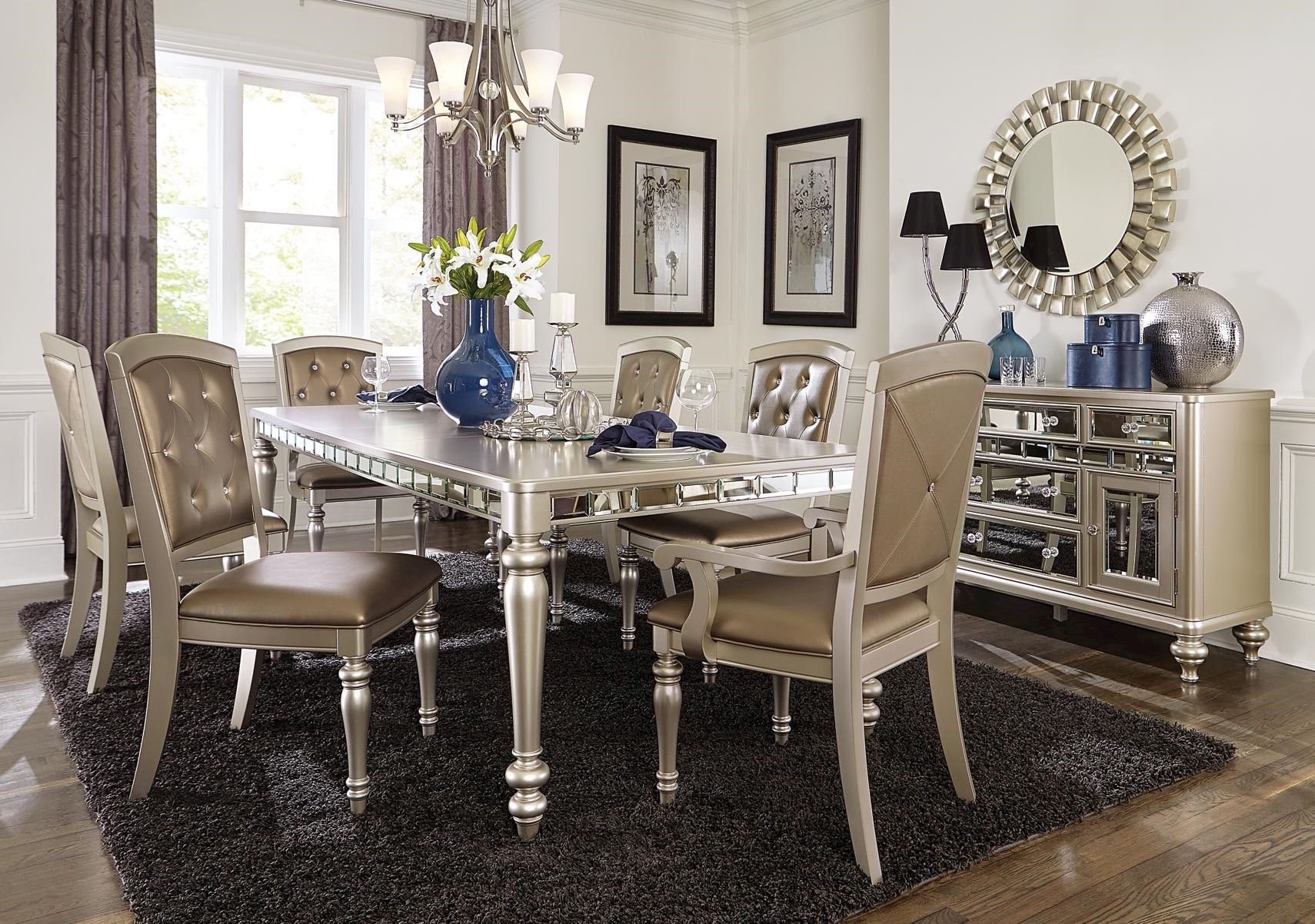 c505aa108a9f Lacks | Orsina 7-Pc Dining Set | Glamorous Living | Dining room ...
