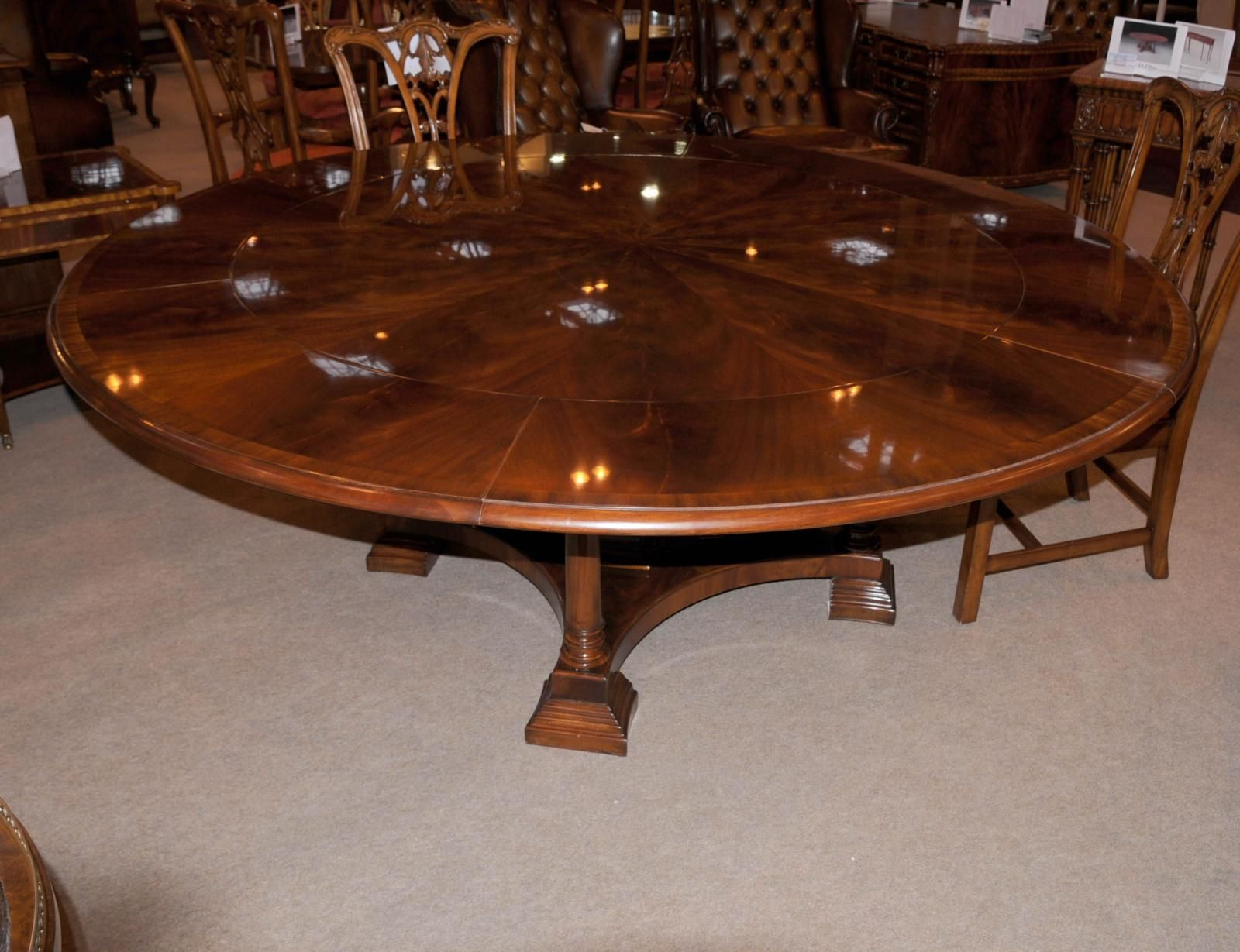 Photo Of Regency Extending Jupe Round Dining Table Centre Tables