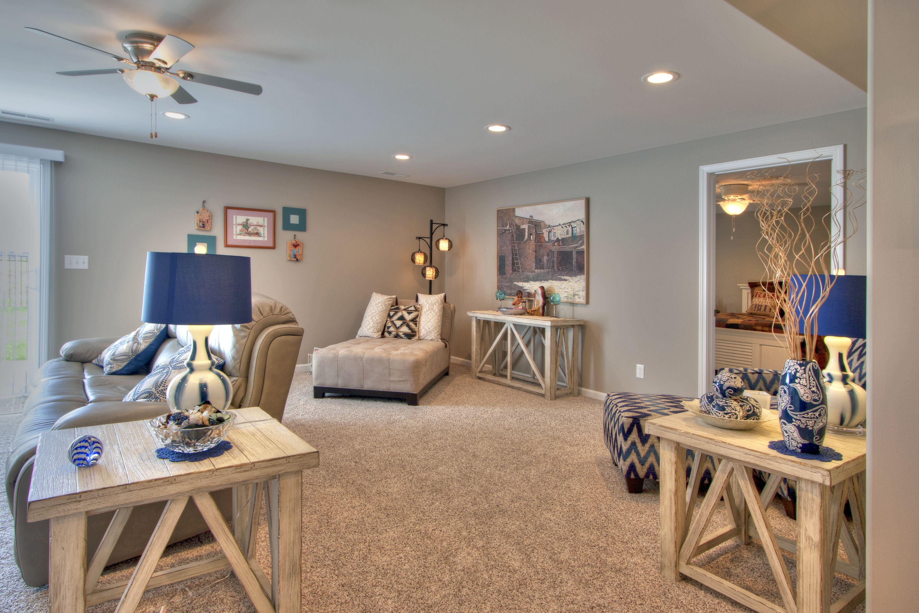 The Finished Basement Family Room Has 3 Separate Seating Areas